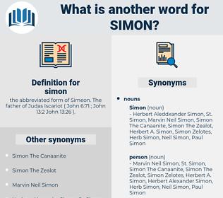 simon, synonym simon, another word for simon, words like simon, thesaurus simon