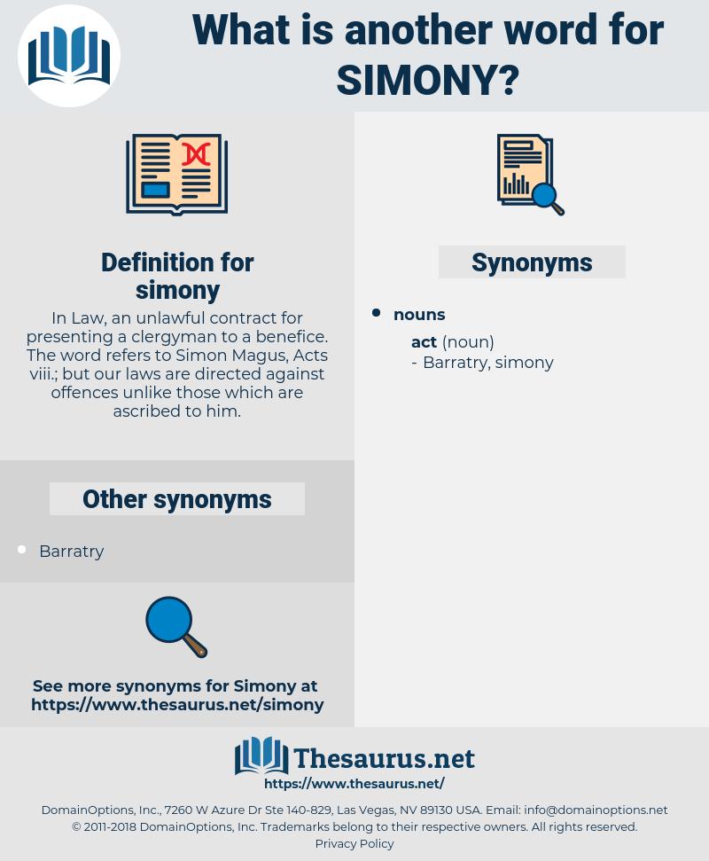 simony, synonym simony, another word for simony, words like simony, thesaurus simony