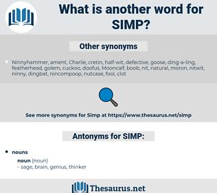 SIMP, synonym SIMP, another word for SIMP, words like SIMP, thesaurus SIMP
