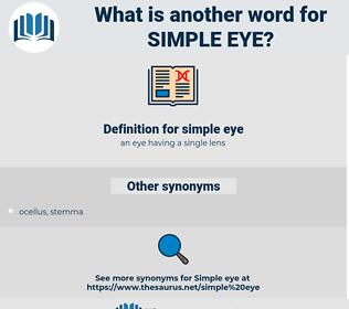 simple eye, synonym simple eye, another word for simple eye, words like simple eye, thesaurus simple eye