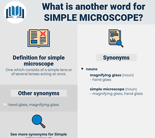 simple microscope, synonym simple microscope, another word for simple microscope, words like simple microscope, thesaurus simple microscope