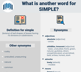 simple, synonym simple, another word for simple, words like simple, thesaurus simple