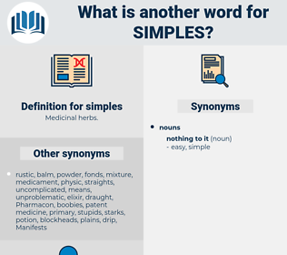 simples, synonym simples, another word for simples, words like simples, thesaurus simples