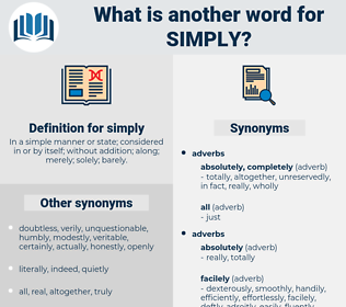 simply, synonym simply, another word for simply, words like simply, thesaurus simply