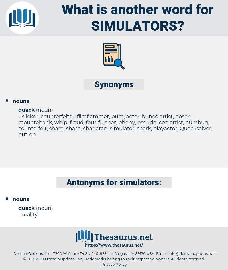 simulators, synonym simulators, another word for simulators, words like simulators, thesaurus simulators