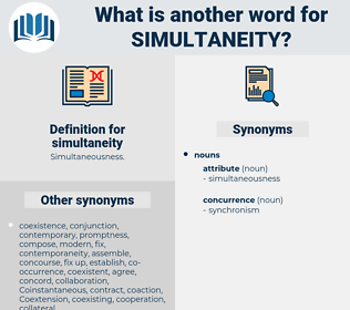 simultaneity, synonym simultaneity, another word for simultaneity, words like simultaneity, thesaurus simultaneity