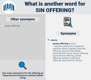 sin offering, synonym sin offering, another word for sin offering, words like sin offering, thesaurus sin offering