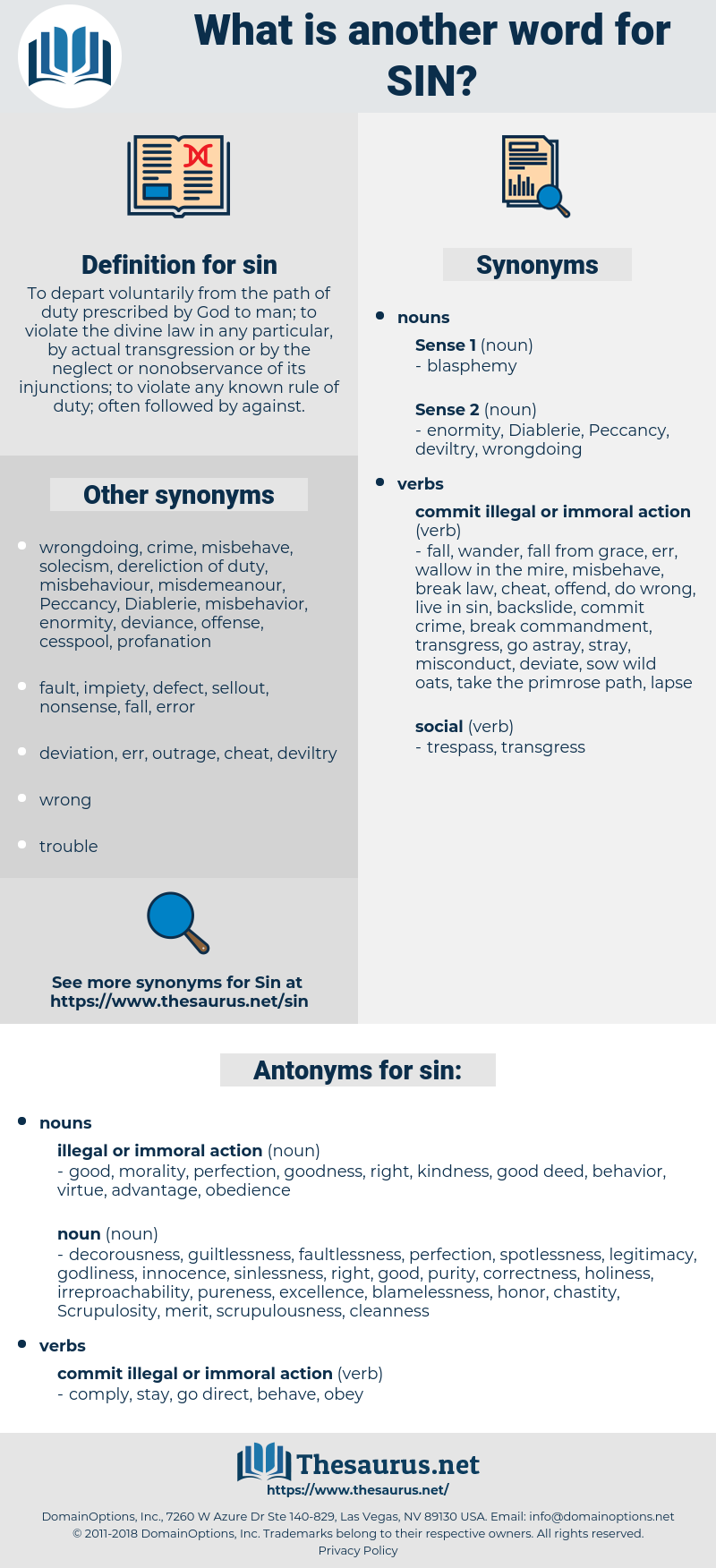 sin, synonym sin, another word for sin, words like sin, thesaurus sin