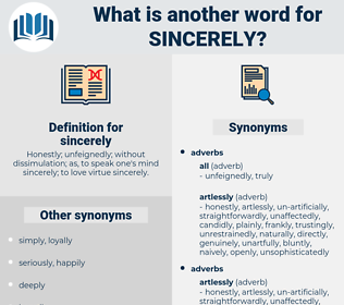 sincerely, synonym sincerely, another word for sincerely, words like sincerely, thesaurus sincerely