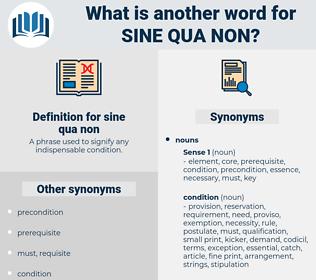 sine qua non, synonym sine qua non, another word for sine qua non, words like sine qua non, thesaurus sine qua non