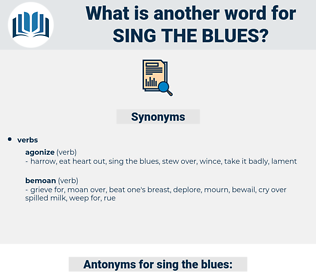 sing the blues, synonym sing the blues, another word for sing the blues, words like sing the blues, thesaurus sing the blues