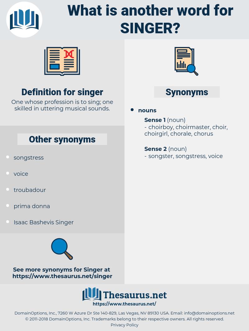 singer, synonym singer, another word for singer, words like singer, thesaurus singer