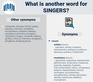 singers, synonym singers, another word for singers, words like singers, thesaurus singers
