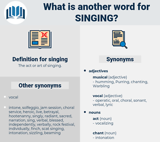 singing, synonym singing, another word for singing, words like singing, thesaurus singing