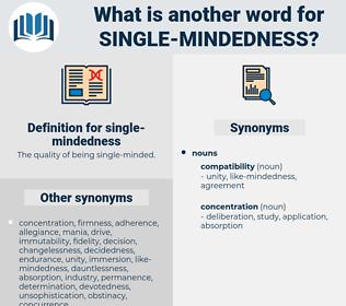 single-mindedness, synonym single-mindedness, another word for single-mindedness, words like single-mindedness, thesaurus single-mindedness