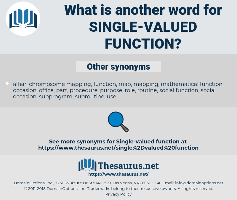 single-valued function, synonym single-valued function, another word for single-valued function, words like single-valued function, thesaurus single-valued function
