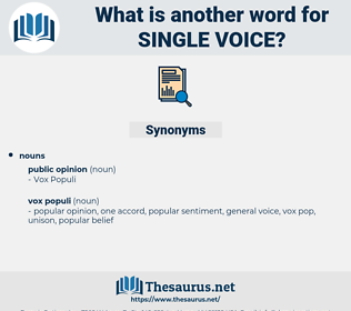 single voice, synonym single voice, another word for single voice, words like single voice, thesaurus single voice