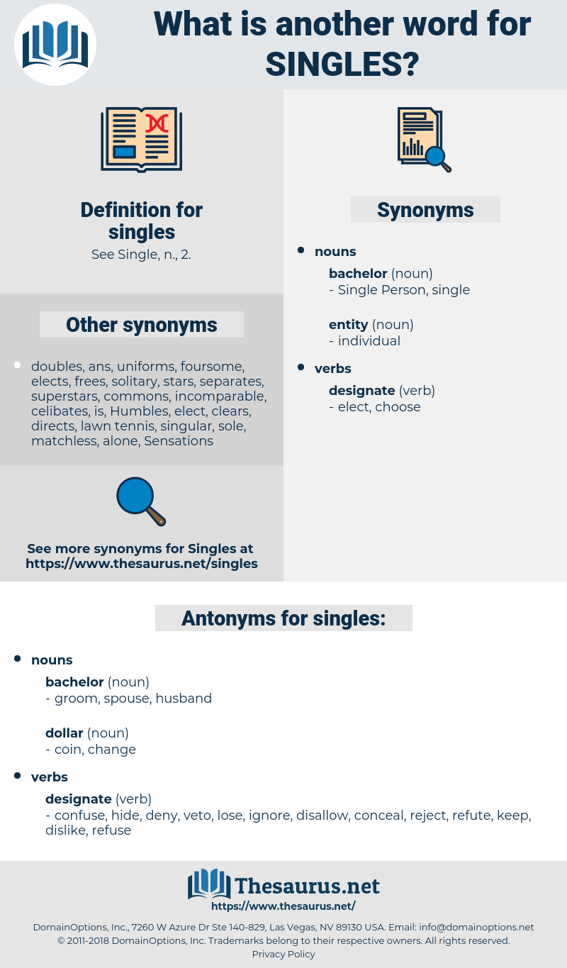 singles, synonym singles, another word for singles, words like singles, thesaurus singles
