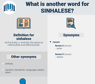 sinhalese, synonym sinhalese, another word for sinhalese, words like sinhalese, thesaurus sinhalese