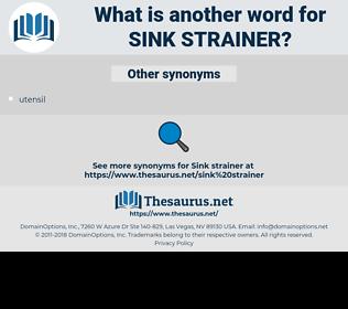 sink strainer, synonym sink strainer, another word for sink strainer, words like sink strainer, thesaurus sink strainer