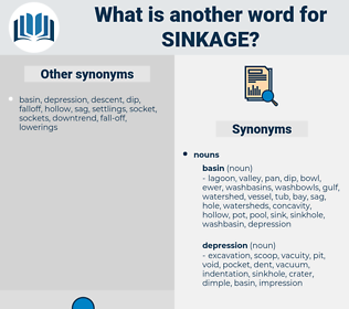 sinkage, synonym sinkage, another word for sinkage, words like sinkage, thesaurus sinkage