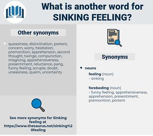 sinking feeling, synonym sinking feeling, another word for sinking feeling, words like sinking feeling, thesaurus sinking feeling