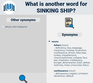 sinking ship, synonym sinking ship, another word for sinking ship, words like sinking ship, thesaurus sinking ship