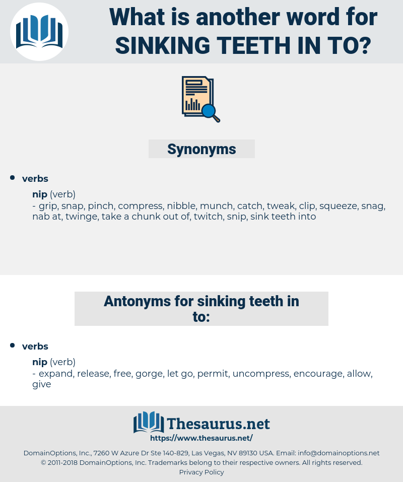 sinking teeth in to, synonym sinking teeth in to, another word for sinking teeth in to, words like sinking teeth in to, thesaurus sinking teeth in to