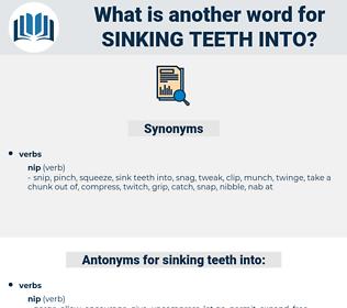 sinking teeth into, synonym sinking teeth into, another word for sinking teeth into, words like sinking teeth into, thesaurus sinking teeth into