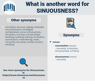 sinuousness, synonym sinuousness, another word for sinuousness, words like sinuousness, thesaurus sinuousness