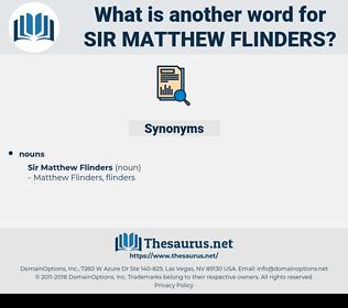 Sir Matthew Flinders, synonym Sir Matthew Flinders, another word for Sir Matthew Flinders, words like Sir Matthew Flinders, thesaurus Sir Matthew Flinders