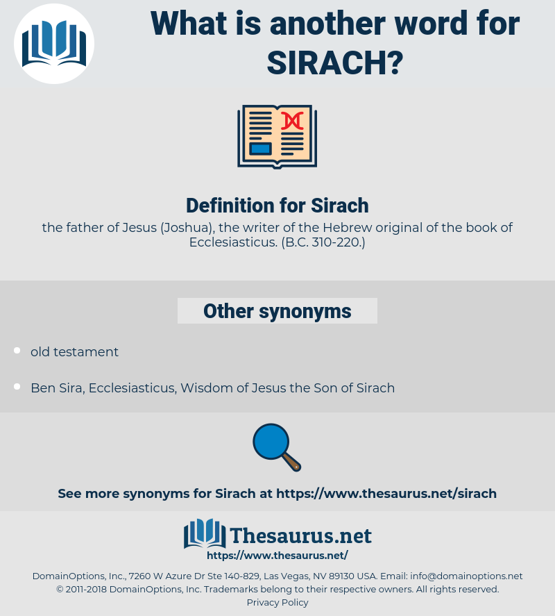 Sirach, synonym Sirach, another word for Sirach, words like Sirach, thesaurus Sirach