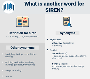 siren, synonym siren, another word for siren, words like siren, thesaurus siren
