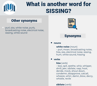sissing, synonym sissing, another word for sissing, words like sissing, thesaurus sissing