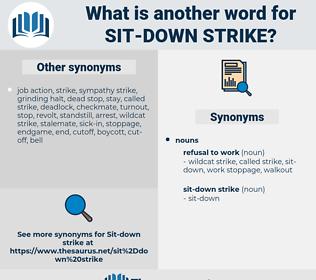 sit-down strike, synonym sit-down strike, another word for sit-down strike, words like sit-down strike, thesaurus sit-down strike