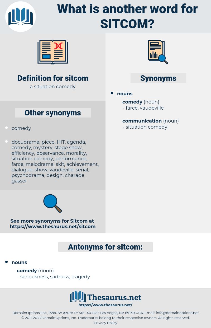 sitcom, synonym sitcom, another word for sitcom, words like sitcom, thesaurus sitcom