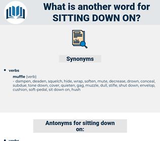 sitting down on, synonym sitting down on, another word for sitting down on, words like sitting down on, thesaurus sitting down on