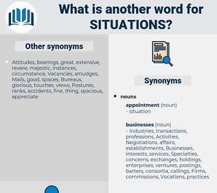 situations, synonym situations, another word for situations, words like situations, thesaurus situations