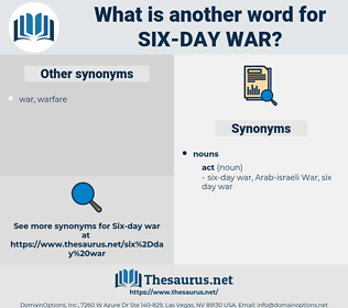 six-day war, synonym six-day war, another word for six-day war, words like six-day war, thesaurus six-day war