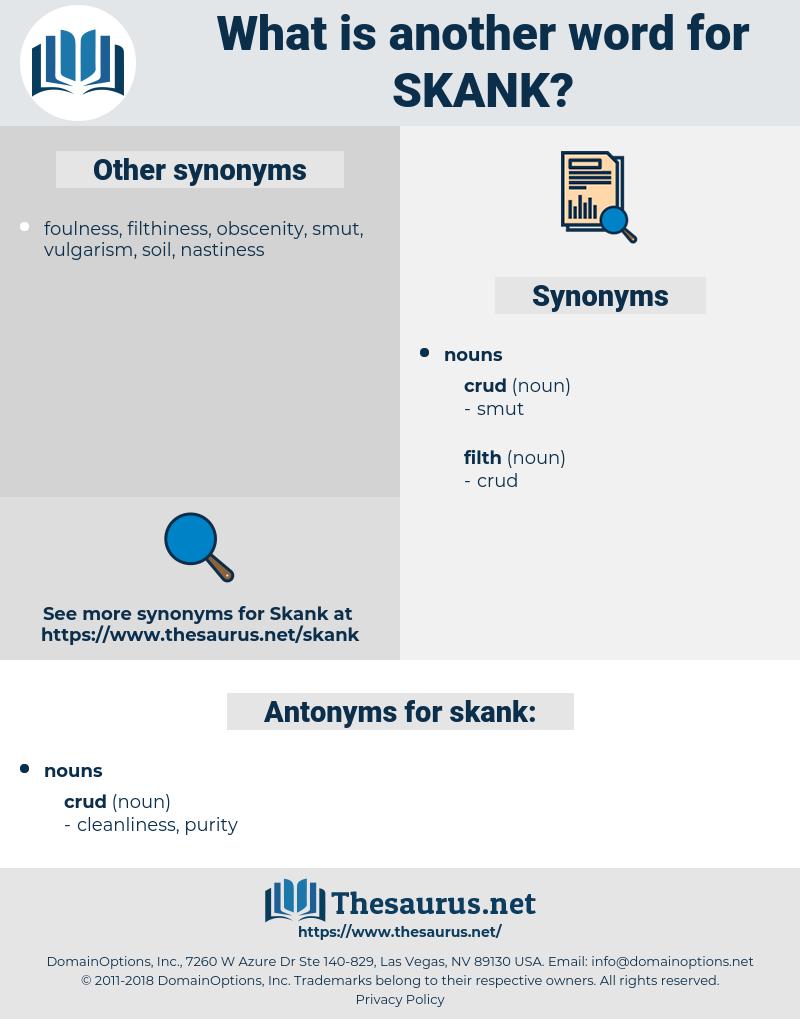 skank, synonym skank, another word for skank, words like skank, thesaurus skank