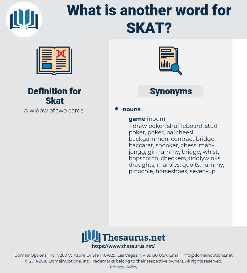 Skat, synonym Skat, another word for Skat, words like Skat, thesaurus Skat