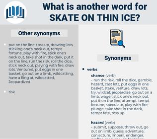 skate on thin ice, synonym skate on thin ice, another word for skate on thin ice, words like skate on thin ice, thesaurus skate on thin ice