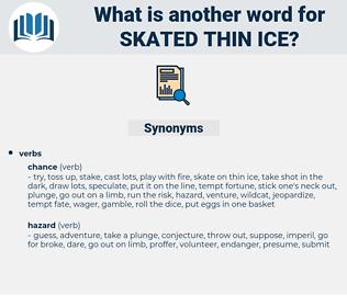 skated thin ice, synonym skated thin ice, another word for skated thin ice, words like skated thin ice, thesaurus skated thin ice