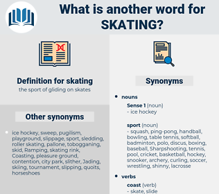 skating, synonym skating, another word for skating, words like skating, thesaurus skating