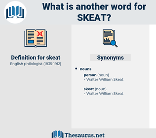 skeat, synonym skeat, another word for skeat, words like skeat, thesaurus skeat