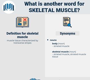 skeletal muscle, synonym skeletal muscle, another word for skeletal muscle, words like skeletal muscle, thesaurus skeletal muscle