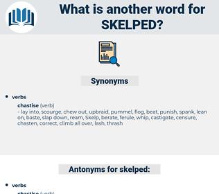 skelped, synonym skelped, another word for skelped, words like skelped, thesaurus skelped