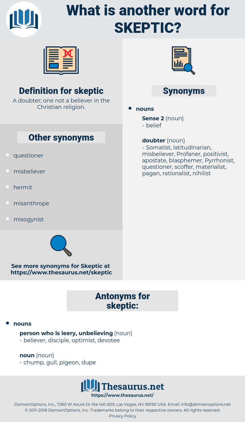skeptic, synonym skeptic, another word for skeptic, words like skeptic, thesaurus skeptic