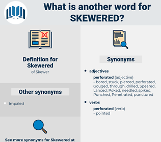 Skewered, synonym Skewered, another word for Skewered, words like Skewered, thesaurus Skewered