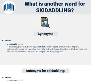 skidaddling, synonym skidaddling, another word for skidaddling, words like skidaddling, thesaurus skidaddling